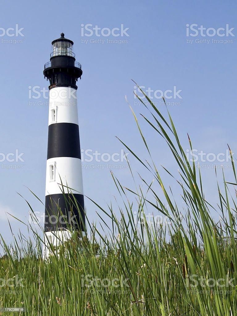 Faro di Bodie Island e Reeds foto stock royalty-free