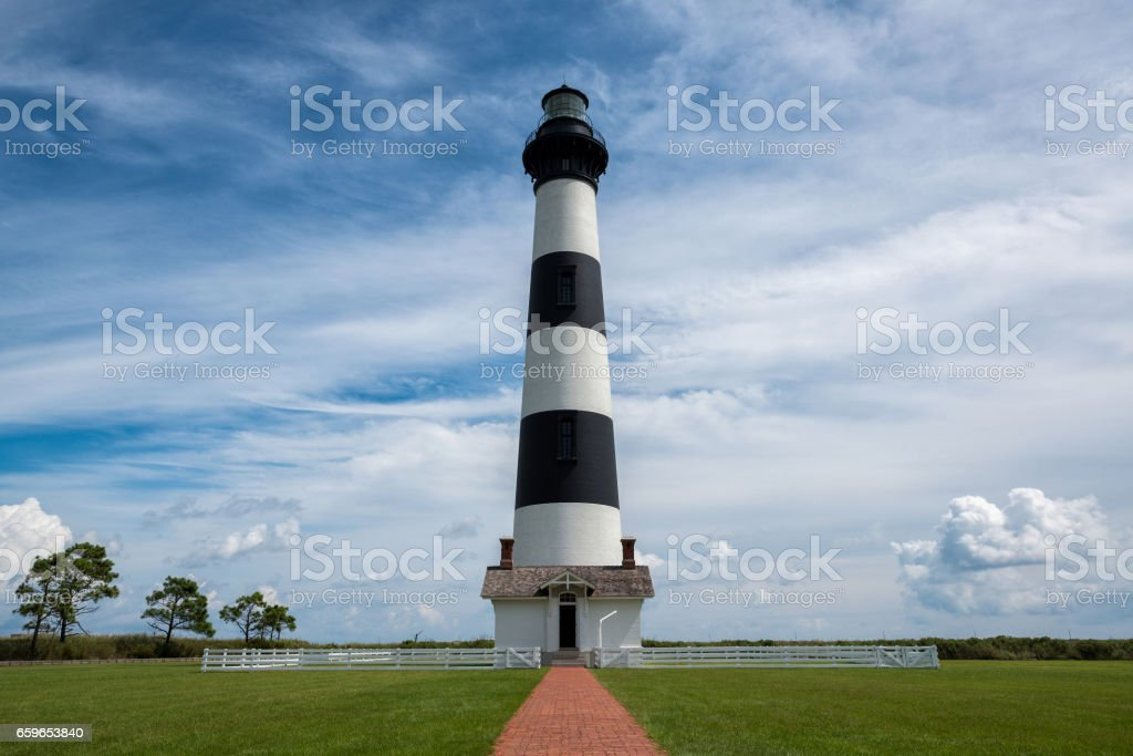 Bodie Island Lighthouse during the day stock photo