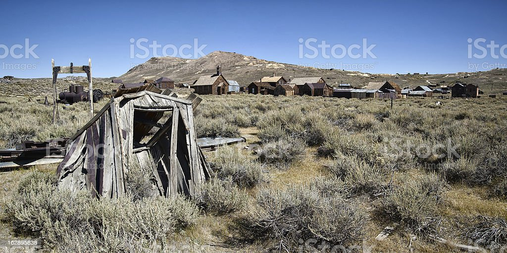 Bodie Panorama stock photo