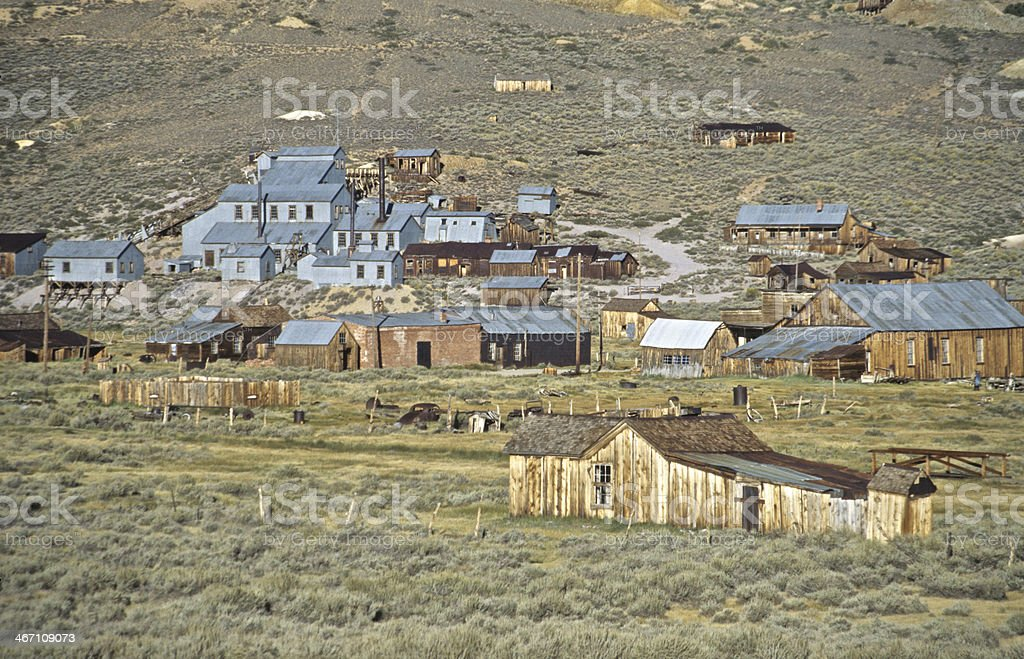 Bodie State Park Gold Mining Standard Mill Stamp old Buildings stock photo