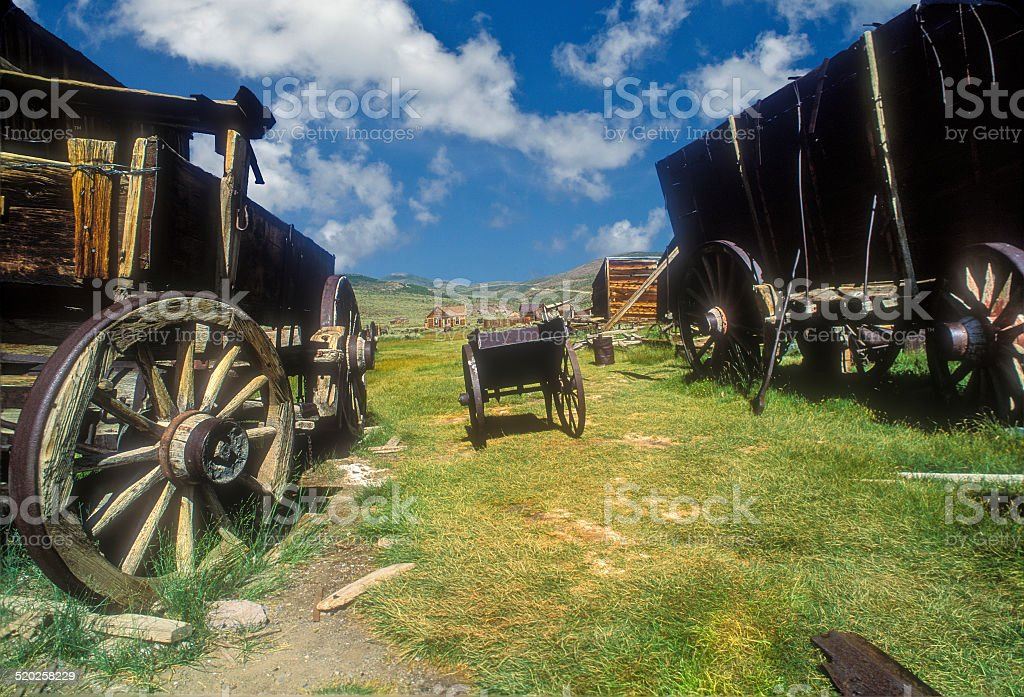 Bodie Wagons stock photo