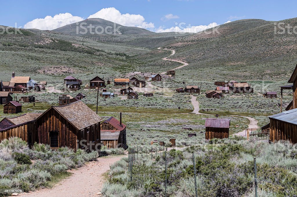 Bodie Wild West Ghost Town stock photo