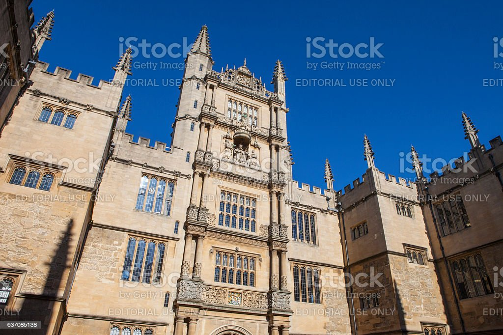 Bodleian Library in Oxford stock photo