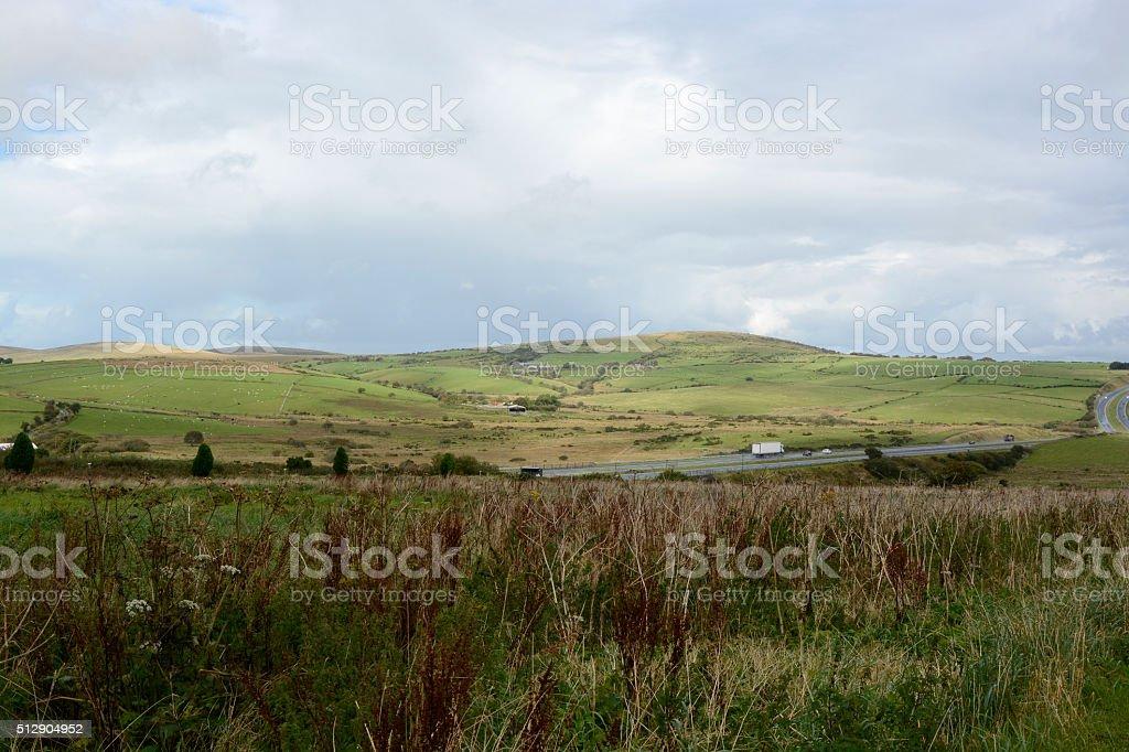 Bodmin Moor in Cornwall, England stock photo