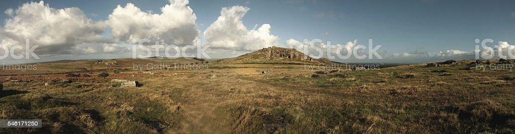 Bodmin Moor Panorama stock photo