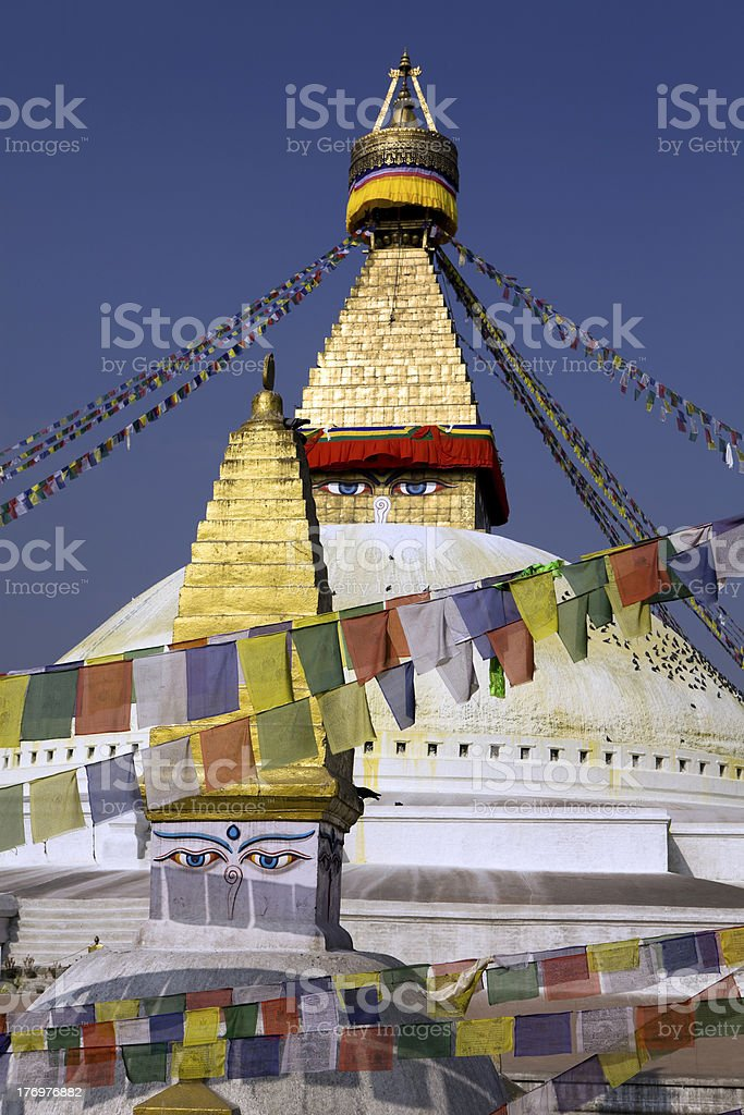Bodnath Stupa Kathmandu Valley Nepal royalty-free stock photo