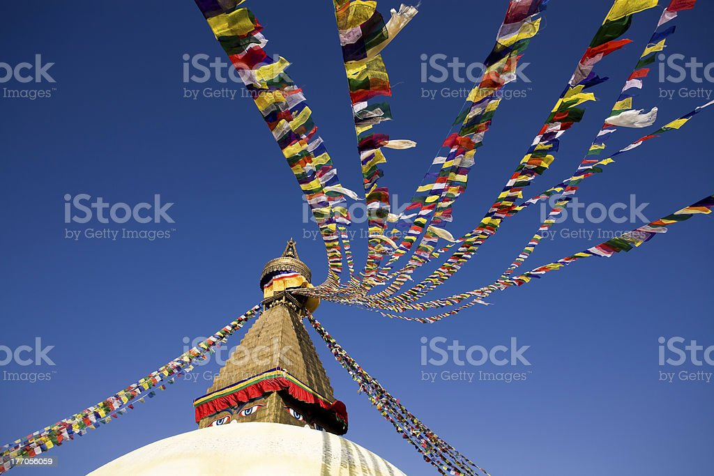 Bodnath Stupa Kathmandu Valley Nepal royalty-free stock photo