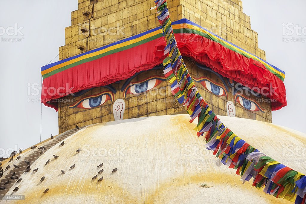 Bodnath Stupa, Nepal stock photo