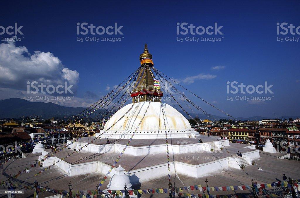 Bodnath Stupa royalty-free stock photo