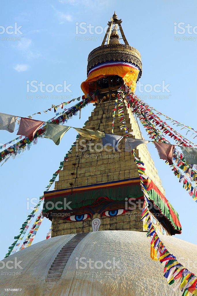 Bodnath stupa royalty-free stock photo