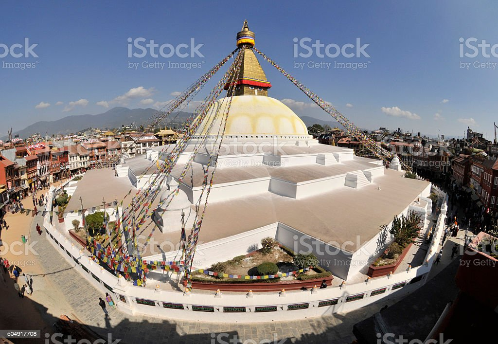 Bodnath temple, Kathmandu stock photo
