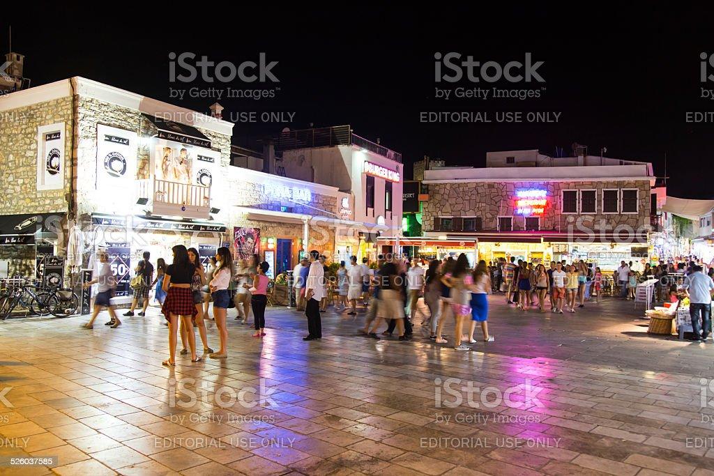 Bodrum bar street stock photo