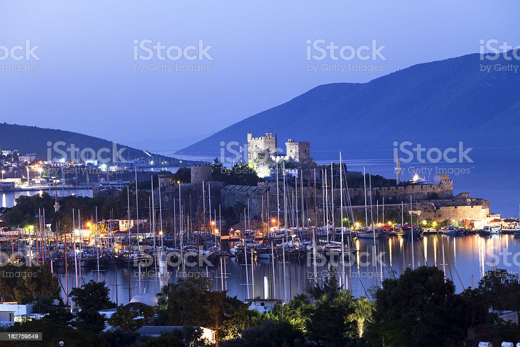 Bodrum Castle and Harbour stock photo