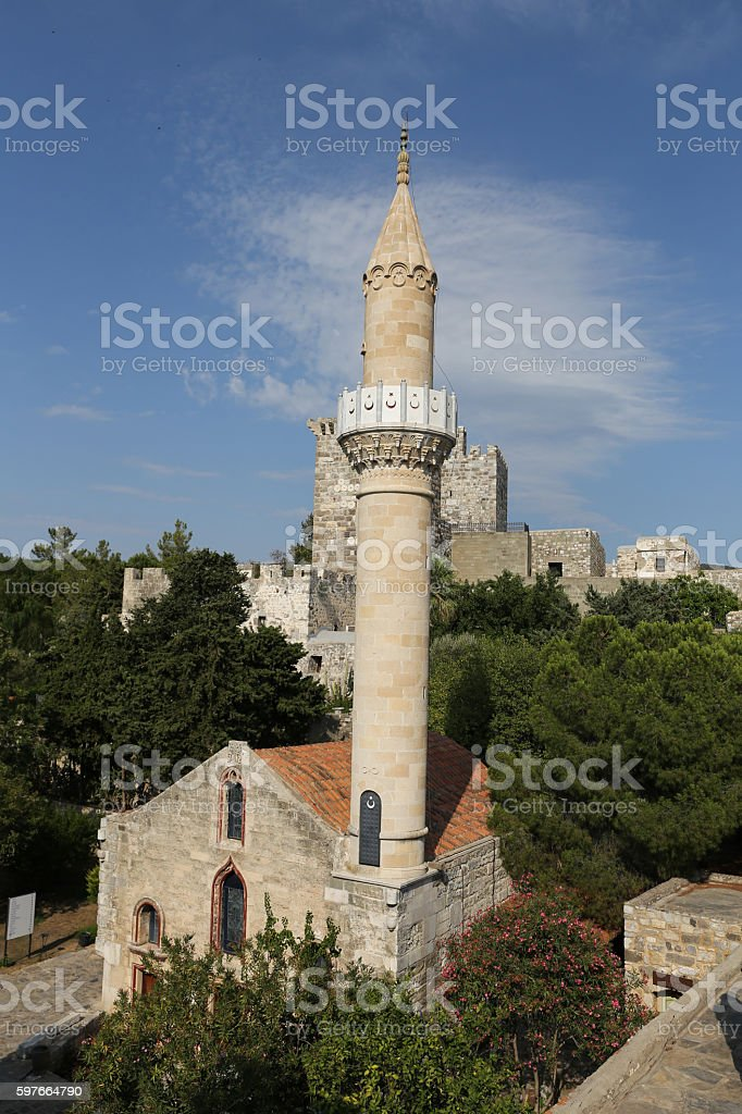 Bodrum Castle in Bodrum Town stock photo