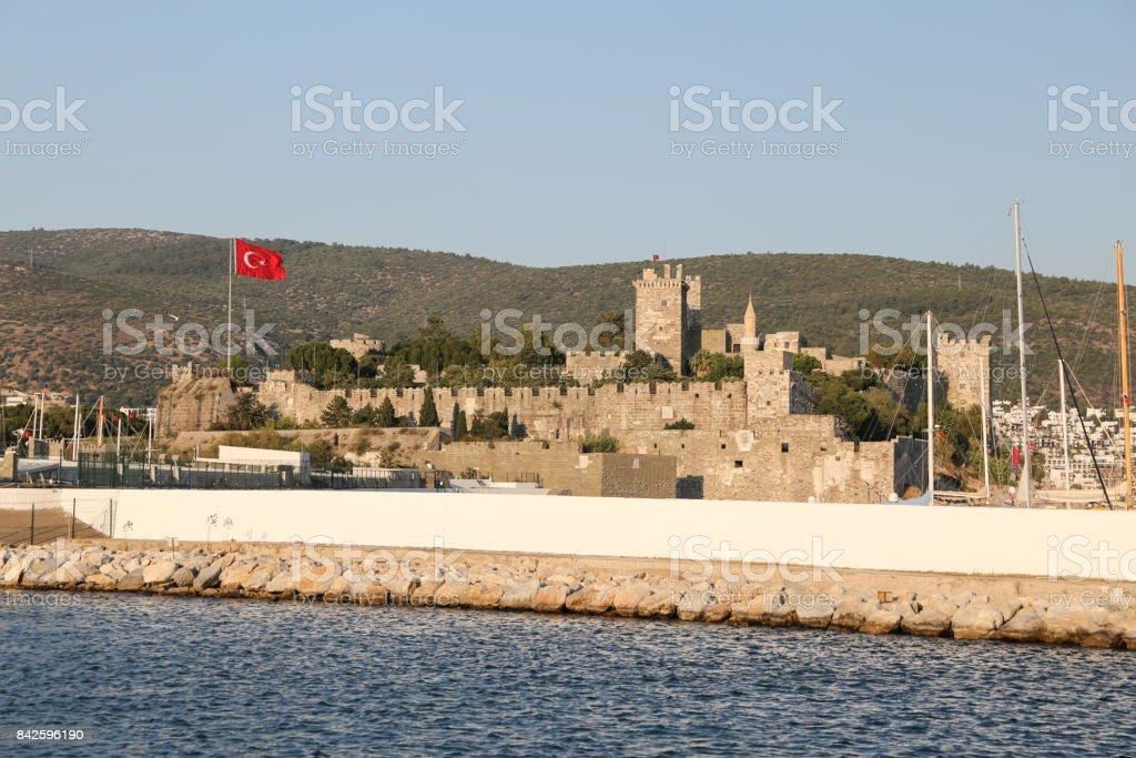 Bodrum Castle in Turkey stock photo