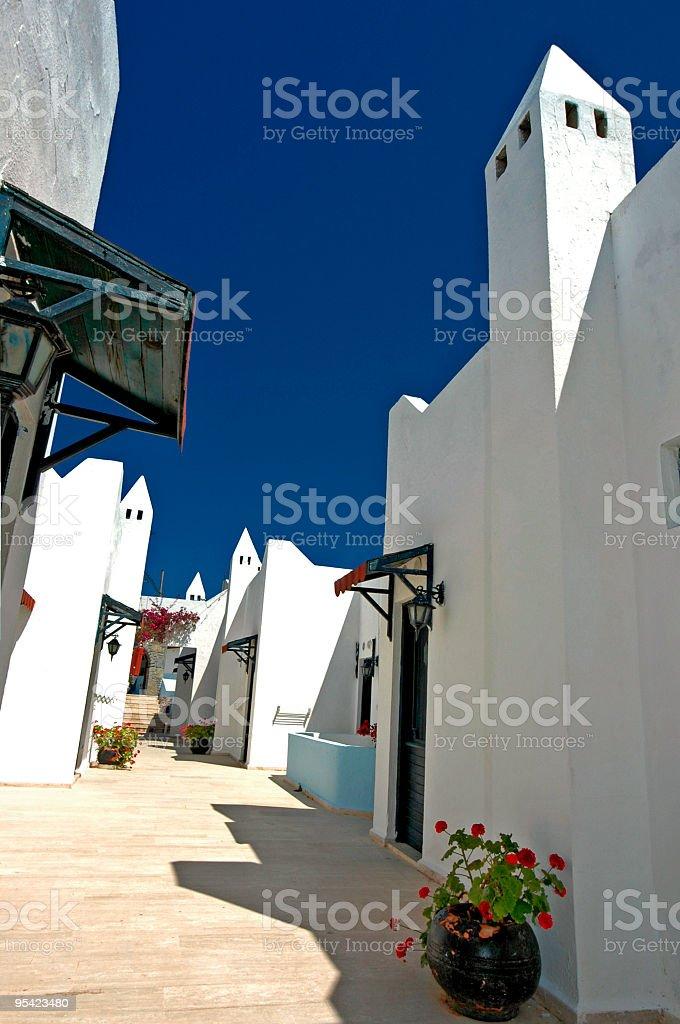 bodrum houses stock photo