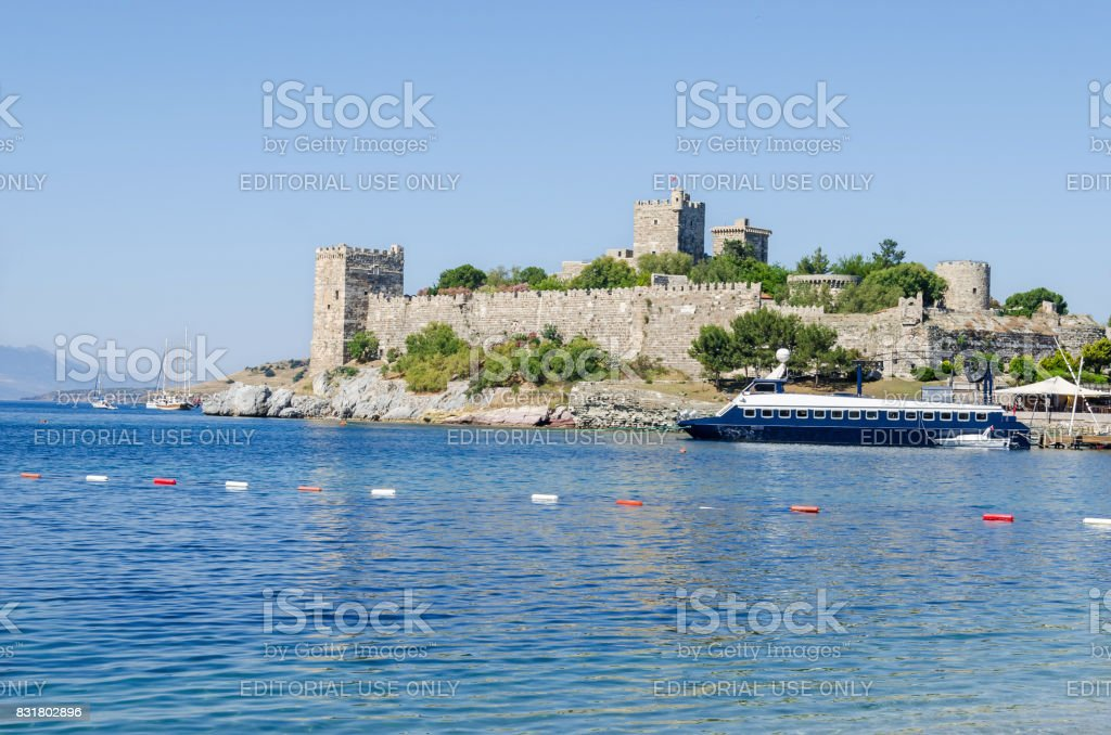 Bodrum or St. Peter's Castle from the south-east stock photo