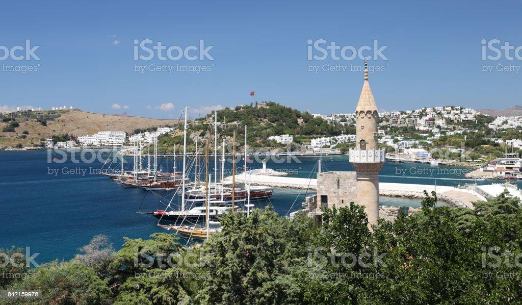 Bodrum Town in Mugla City, Turkey stock photo