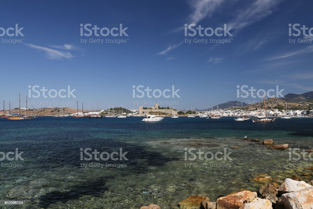 Bodrum Town in Turkey stock photo