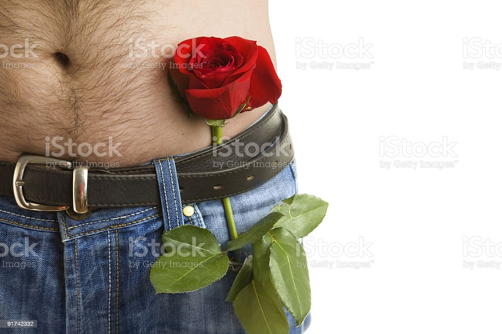 Body and flower royalty-free stock photo