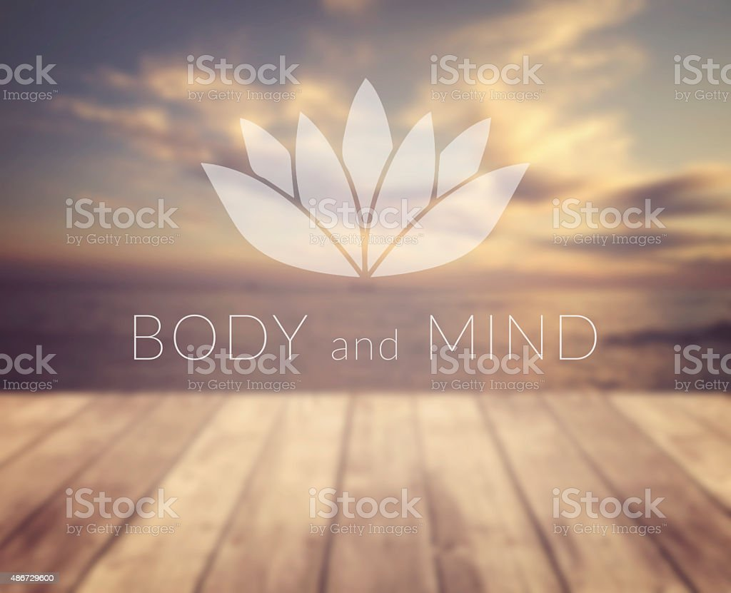 Body and mind stock photo