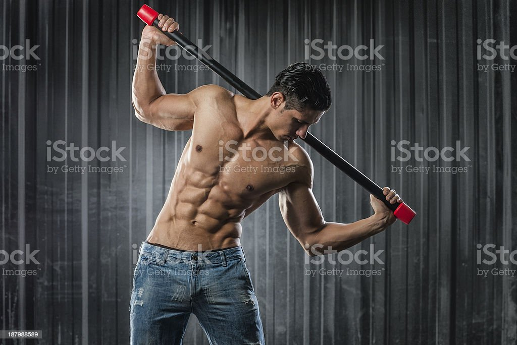 Body bar aerobic class royalty-free stock photo