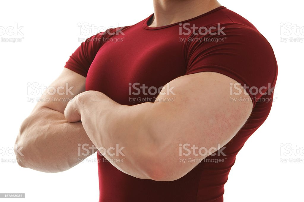 Body builder arms folded royalty-free stock photo