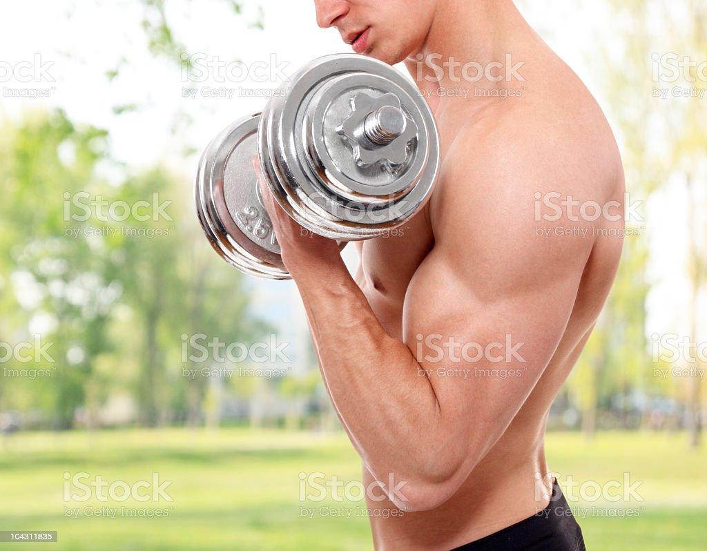 Body builder exercising royalty-free stock photo