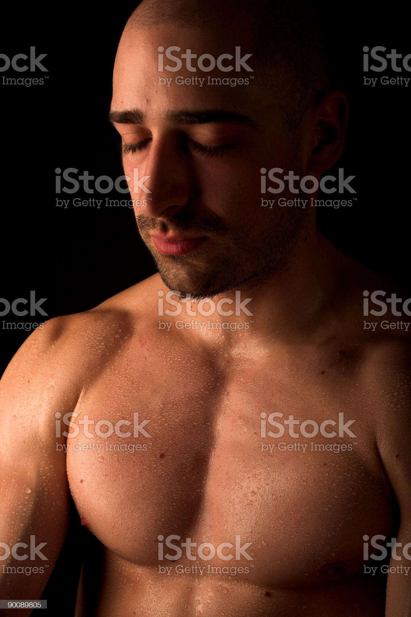 Body builder royalty-free stock photo