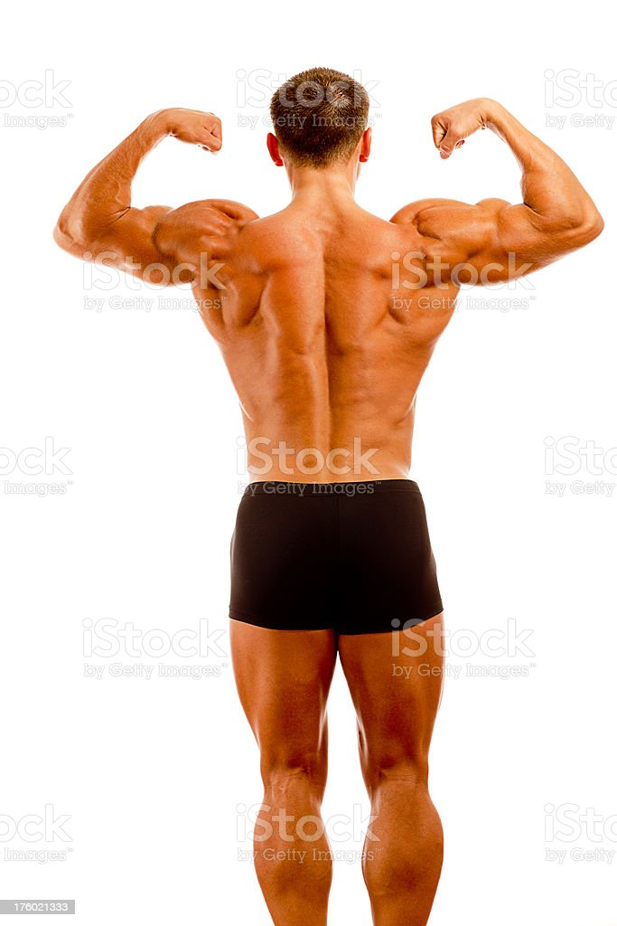 Body Builder Rear View royalty-free stock photo