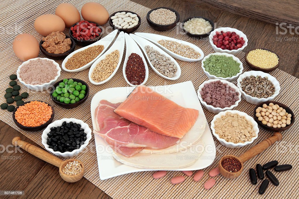 Body Building Diet food stock photo