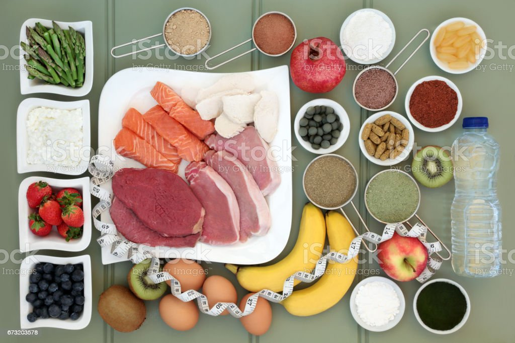 Body Building Health Food Collection stock photo