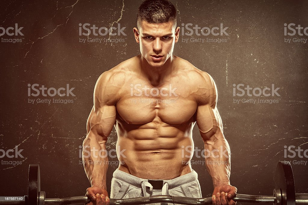 Body Building In Progress royalty-free stock photo