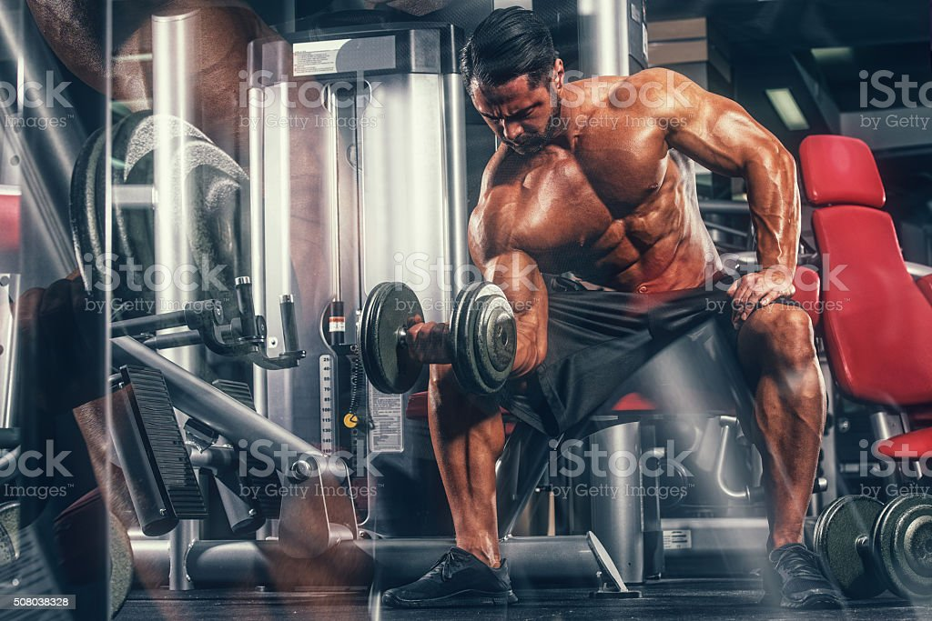 Body Building In Progress stock photo