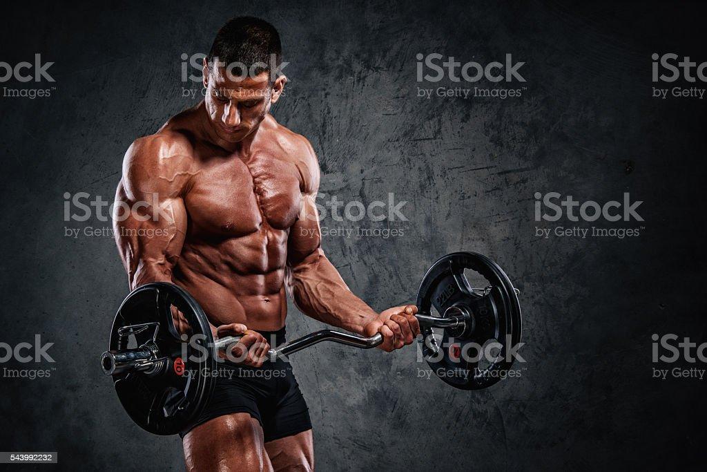 Body Building in Progress stock photo