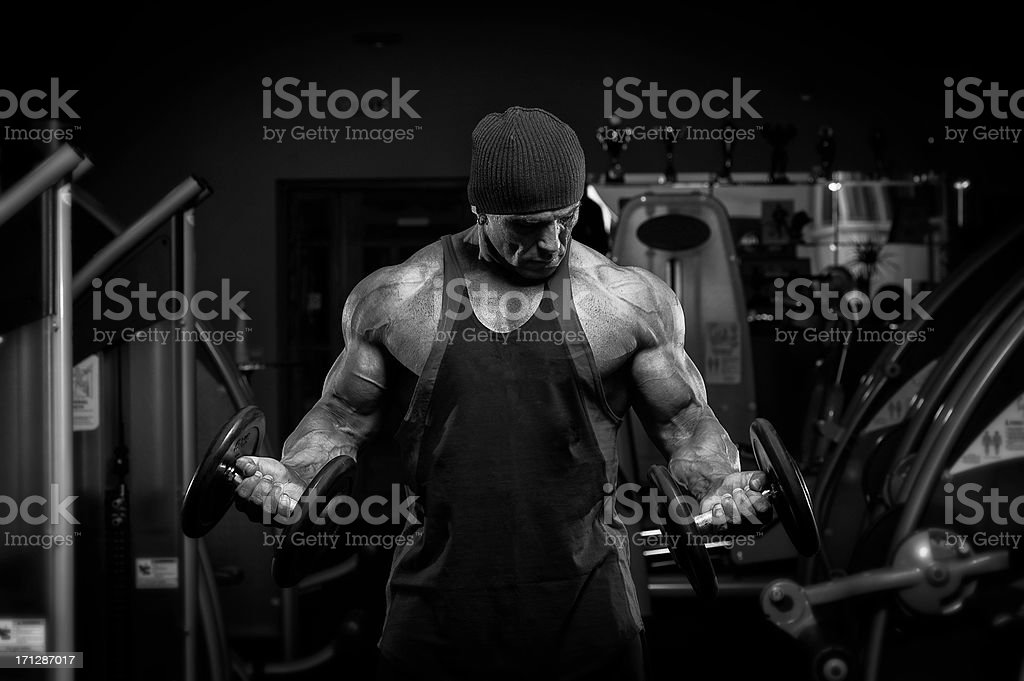 Body Building Is Serious Business royalty-free stock photo
