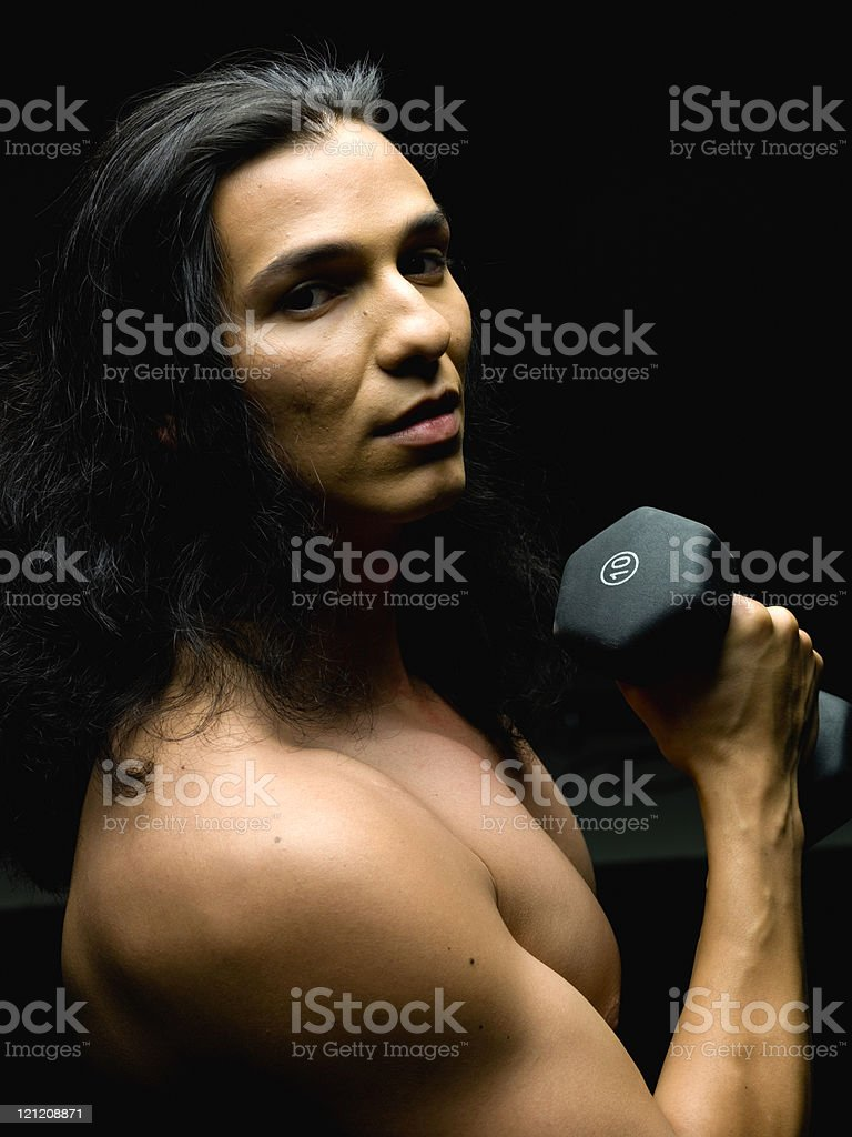 Body building royalty-free stock photo