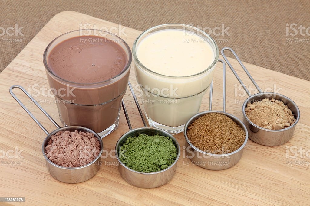 Body Building Powders and Drinks stock photo