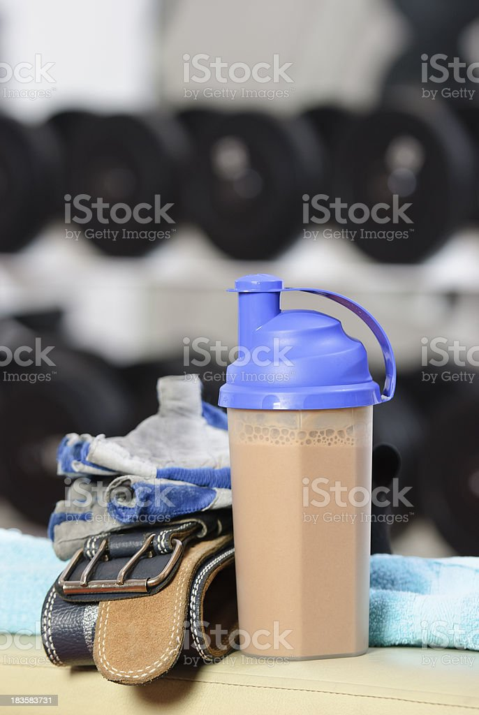 body building supplement royalty-free stock photo