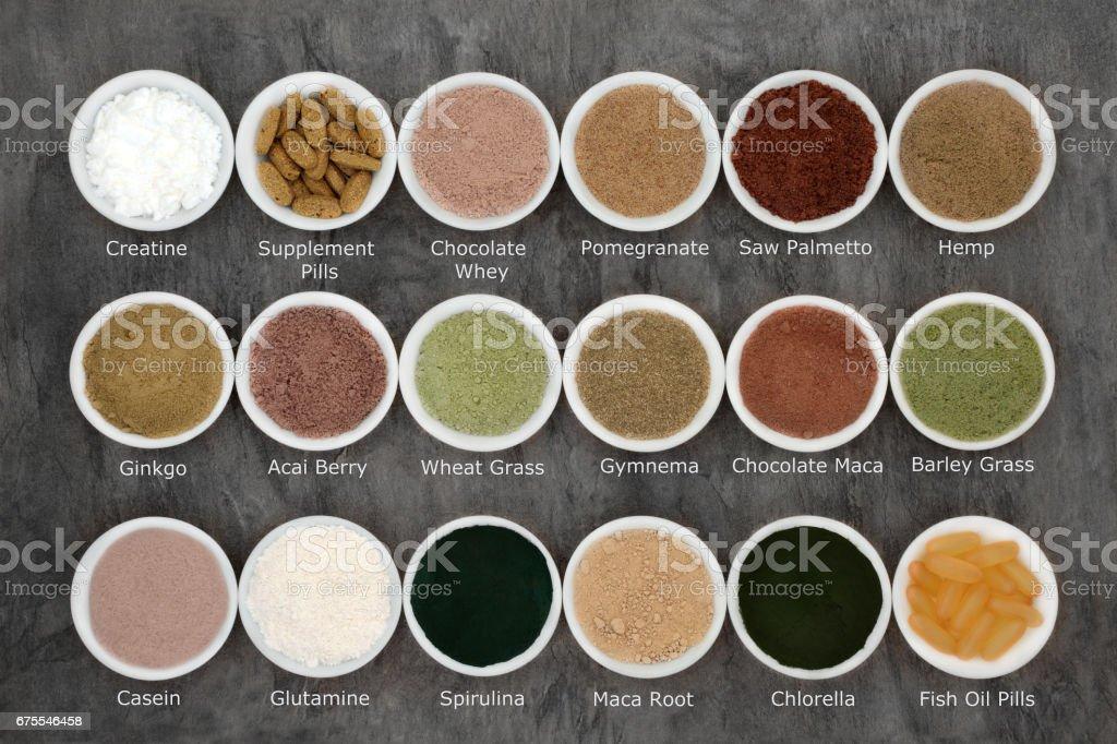 Body Building Supplement Powders stock photo
