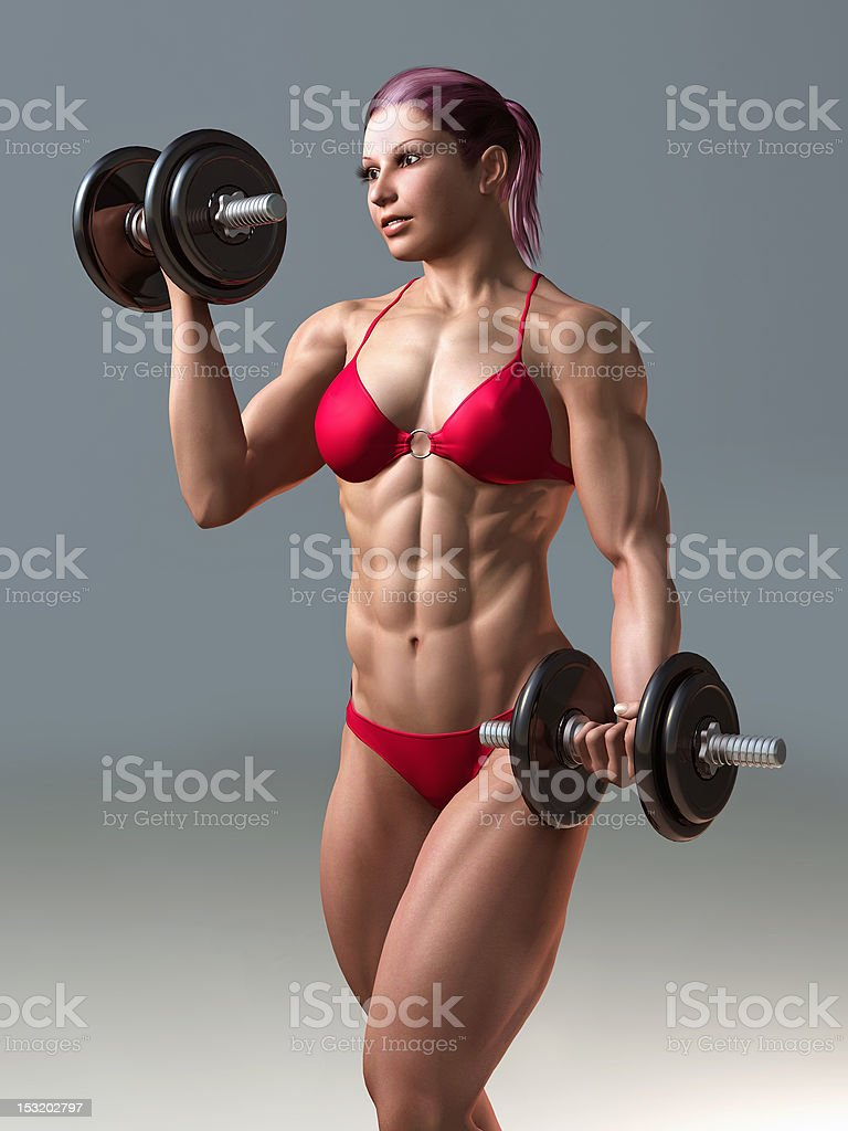 body building woman royalty-free stock photo