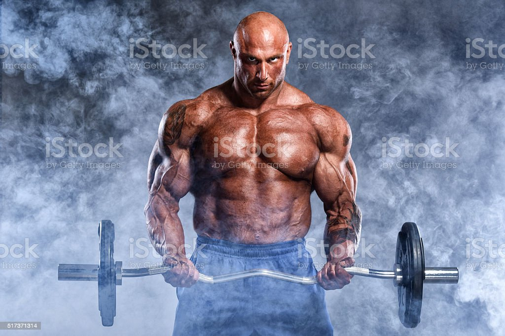 Body Building Workout From Hell stock photo