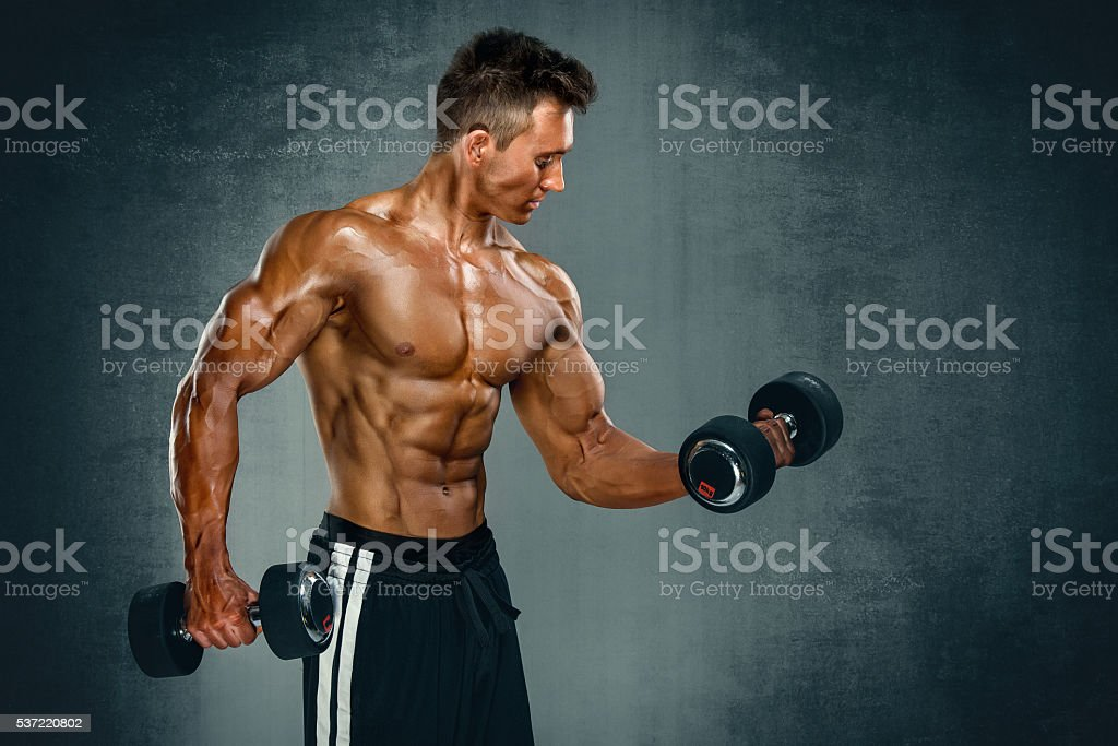 Body Building Workout stock photo