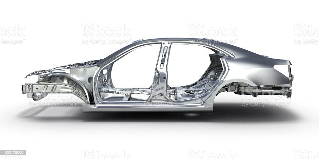 body car isolated on white background 3d stock photo