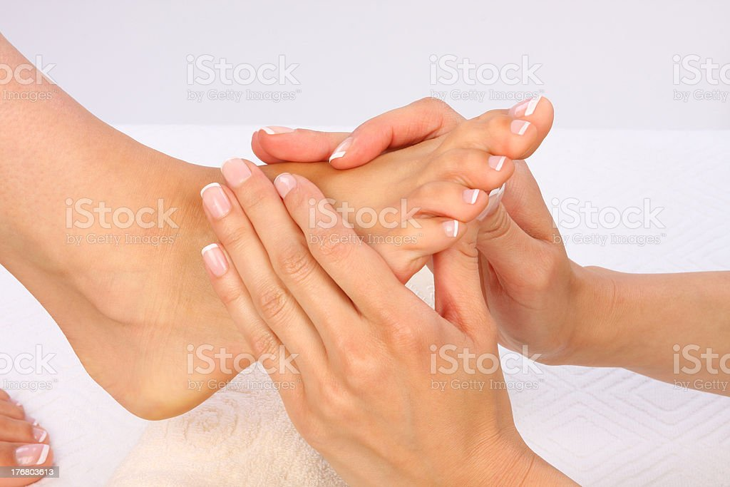 Body Care - Feet massage royalty-free stock photo
