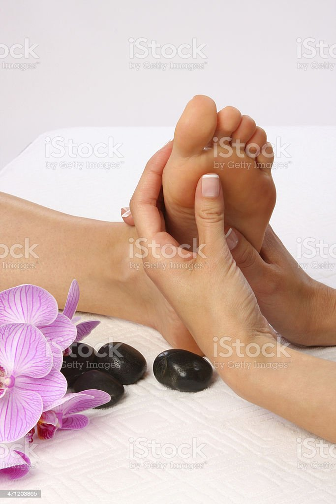 Body Care - Feet massage royalty-free stock photo