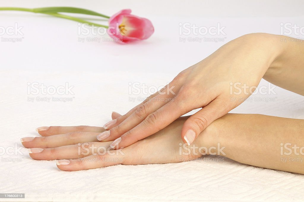 Body Care - Hands massage royalty-free stock photo