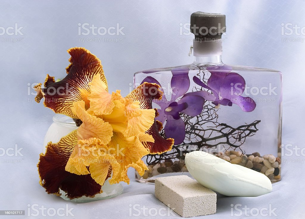 body care products with Iris royalty-free stock photo