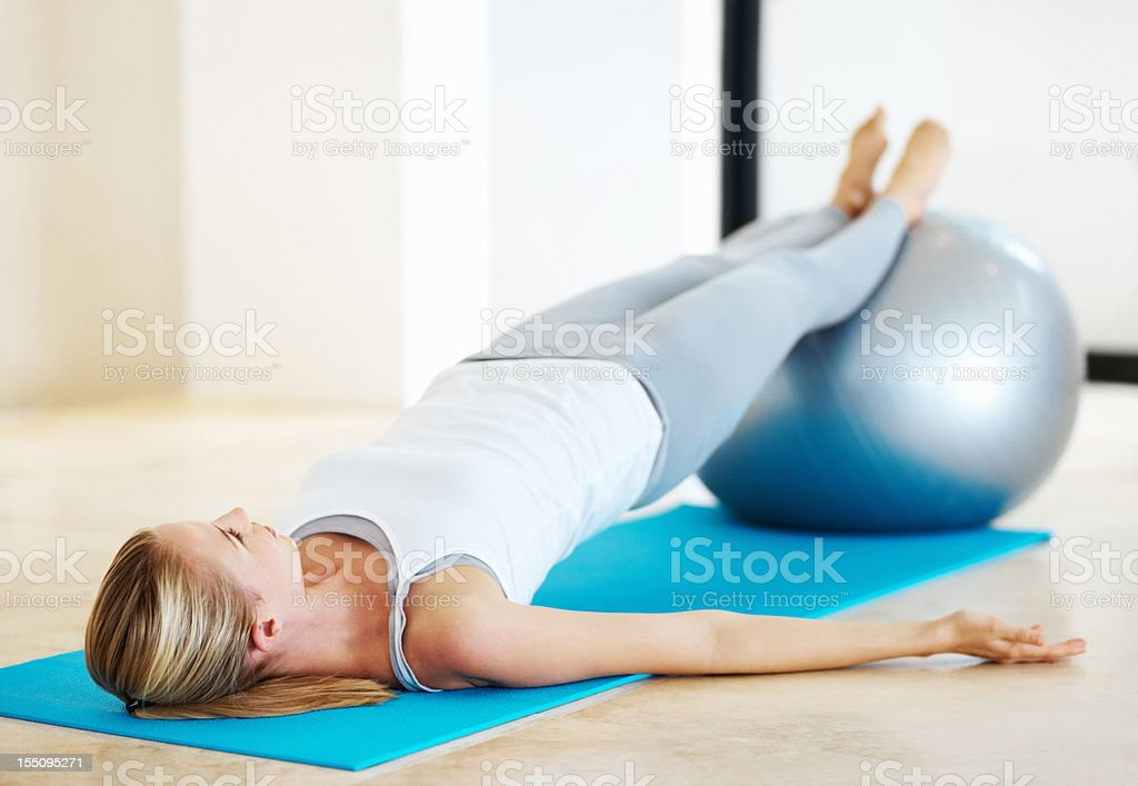 Body conscious stock photo