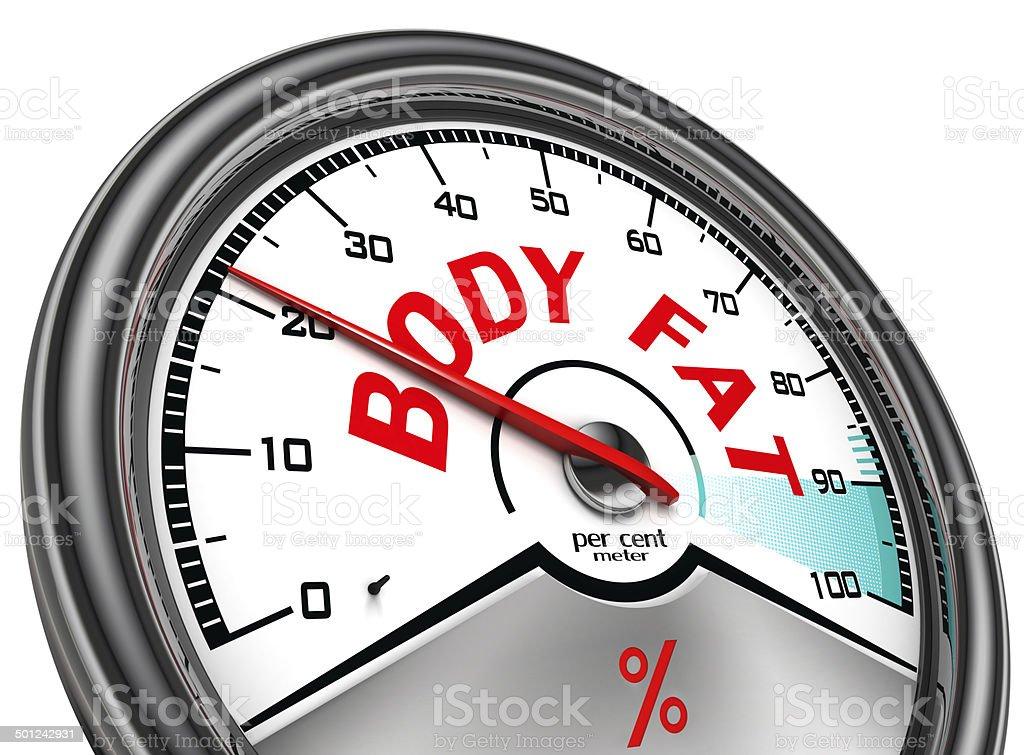 body fat conceptual meter stock photo
